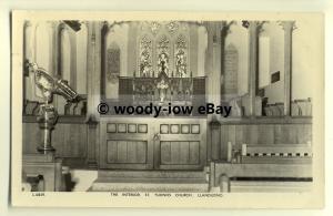cu1825 - Inside Tudnos Church, Llandudno, Great Orme, Caernarvonshire - Postcard