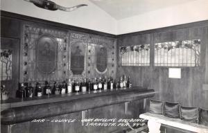 SARASOTA FLORIDA JOHN RINGLING RESIDENCE~BAR~LOUNGE~REAL PHOTOS POSTCARD 1950s