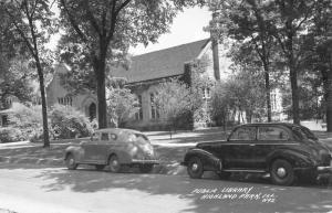 Highland Park Illinois Public Library Real Photo Antique Postcard K57966