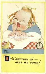 Artist Signed Mabel Lucie Attwell No. 1659, It's Getting Up Gets me Down!