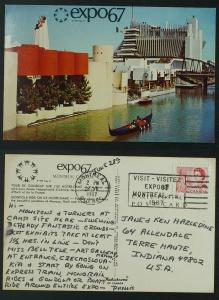 Montreal Expo 67 Monaco,Haiti,France pavillions  pmk june