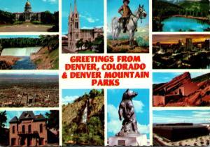 Colorado Greetings From Denver & Denver Mountain Parks Multi View