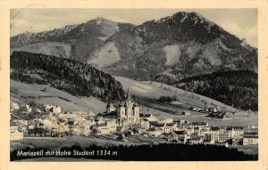 Austria Mariazell mit Hohe Student Church Panorama Postcard