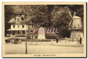 Postcard Old Mill Park Spa Landscape In Wind