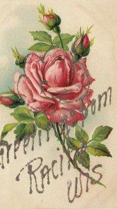 RACINE , Wisconsin, 1900-10s ; Flower Greetings