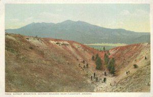 Flagstaff Arizona Sunset Volcano Detroit Publishing C-1910  Postcard 21-4406