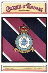 Postcard RAF Royal Air Force No.64 Squadron Crest Badge No.62 NEW