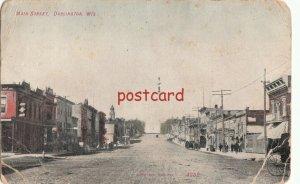 1908 DARLINGTON WI Main Street, liquor business, dirt road, publ Kropp