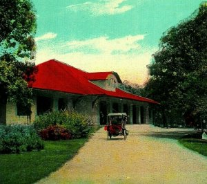 Antique Automobile À Minnehaha Park Pavillon Mn 1910s Vtg Carte Postale Unp