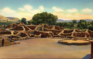 New Mexico Aztec Ruions National Monument Showing Open Court Or Plaza Curteich