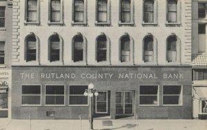 RUTLAND , Vermont , 1950-60s ; County National Bank
