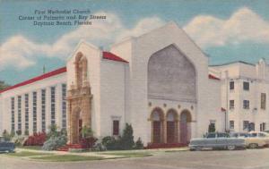 Florida Daytona Beach First Methodist Church Corner Of Palmetto And Bay Streets