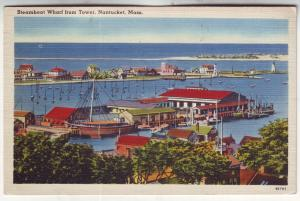 P560 JLs 1940 steamboat wharf birds eye view from tower nantucket mass