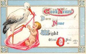 Announcement Stork 1912