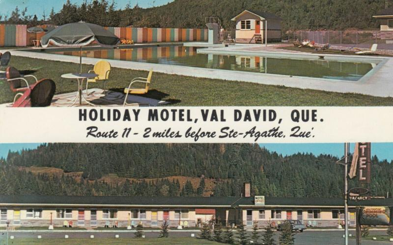 VAL-DAVID , Quebec , Canada , PU-1984 ; Holiday Motel - Route 11, Swimming Pool