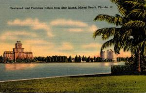 Florida Miami Beach Fleetwood and Floridian Hotels From Star Island