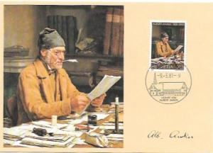 Switzerland 1981. Albert Anker.  Souvenir postcard.