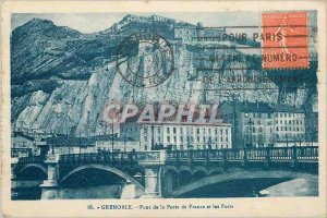 Postcard Grenoble Old Bridge Gate France and Forts