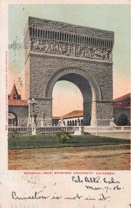 Memorial Arch, Stanford University, Palo Alto, California, 1906 Postcard, Used