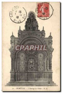 Old Postcard Clock Beauvais L & # 39Horloge of Truth