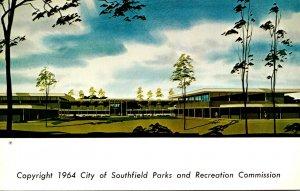 Michigan Southfield Civic Center Parks & Recreation Building Library Municipa...