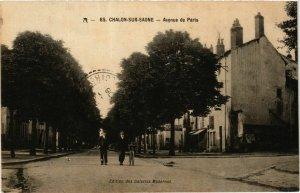 CPA Chalon sur Saone Avenue de Paris FRANCE (952629)