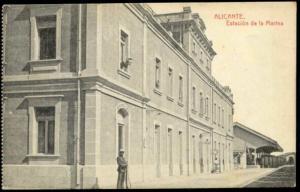 spain, ALICANTE, Estacion de la Marina, Railway Station (1910s)