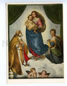 227586 Raffaello Santi The Sistine Madonna old german postcard