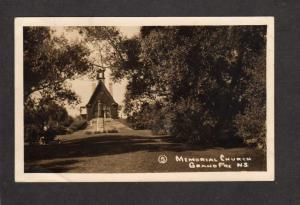 NS Church Grand Pre Nova Scotia Postcard Carte Postale Canada RPPC Real Photo