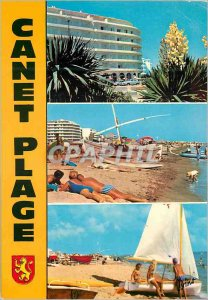 Modern Postcard Canet Plage Lumiere Catalan Coast and colors of Roussillon Boat