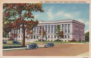 Wisconsin Kenosha Kenosha County Court House Curteich