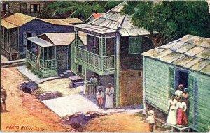 Cayey Porto Rico Woman's World Vintage Postcard Standard View Card