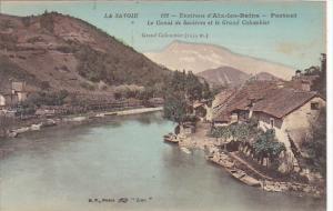 France Aix-les-Bains Portout Le Canal de Savieres et le Grand Colobier