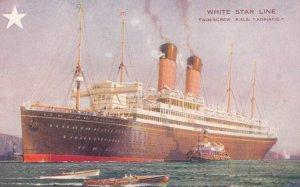 White Star Ocean Liner R.M.S. ADRIATIC , 1900-10s