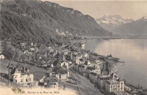 Territet Switzerland~Dents du Midi~Bird's Eye View of Town in Mountains~Postcard