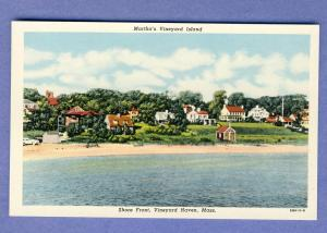 Martha's Vineyard, Mass/MA Postcard, Shore Front, Cape Cod