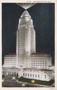 California Los Angeles City Hall At Night