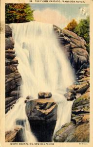 NH - Franconia Notch. The Flume Cascade.   *RPO- Boston & Island Pond Railroad