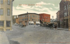 LP42 Hardwick Vermont Vintage Postcard Main St Private Mailing Card PMC