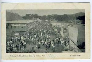Danbury CT Fairgrounds Midway Postcard