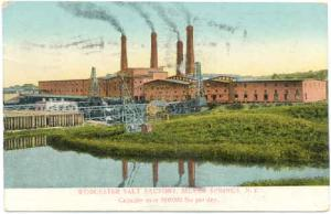 Worcester Salt Factory, Silver Springs, New York, 1908 Divided Back