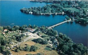 RIDEAU FERRY ONTARIO CANADA NEAR PERTH & SMITH FALLS  AERIAL VIEW POSTCARD 1960s