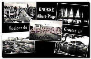 Postcard Modern Knokke Albert Beach