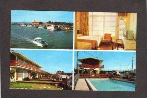 FL Gilbert's Motel Marina Restaurant Jewfish Creek Key Largo Florida Postcard