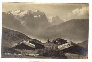 RP, Kaserstadt Mit Wetterhorngruppe, Hasliberg (Berne), Switzerland, 1910-1920s