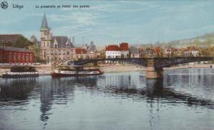 La Passerelle Et l'Hotel Des Postes, LIEGE (Liege), Belgium, 1900-1910s
