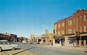 RIMOUSKI Quebec, Canada Le Nouvelle rue St-Germain Street Scene Postcard c1950s