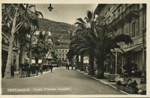 italy, VENTIMIGLIA, Corso Principe Amedeo (1920s) RPPC Postcard