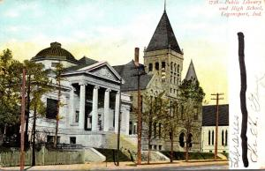 Public Library and High School Logansport Indiana
