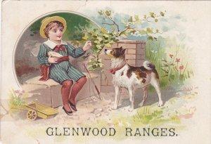 TC: Boy & dog , Glenwood Ranges , Haverhill , Massachusetts , 1890s
